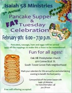 Pancake supper poster 2016